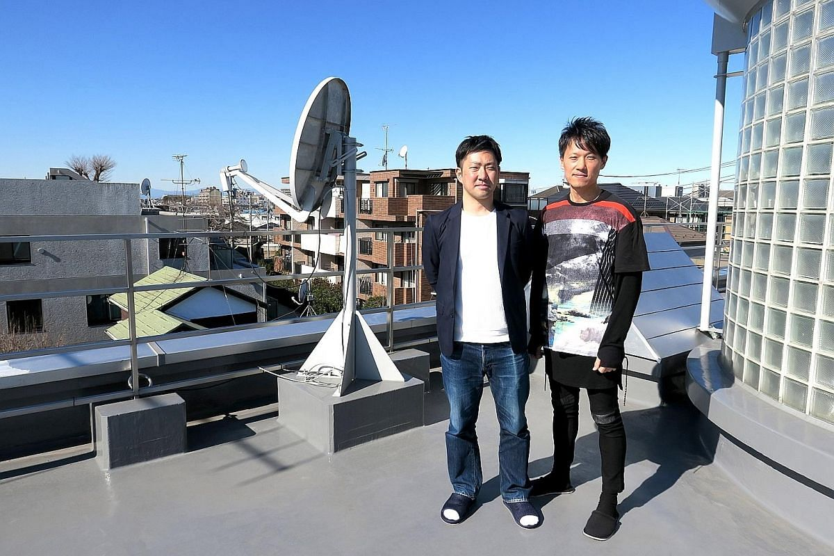 Studio Colorido's Hideo Uda (left) and Eallin's Hisatsugu Kasajima at the Studio Colorido office near Tokyo's hipster hub of Shimo-Kitazawa. Their companies frequently collaborate with the aim of exporting Japanese work overseas. Above: Penang native
