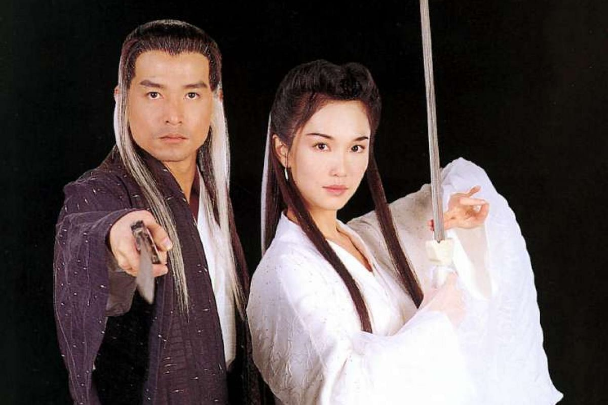 Actress Fann Wong and actor Christopher Lee on Channel 8's period series Return Of The Condor Heroes