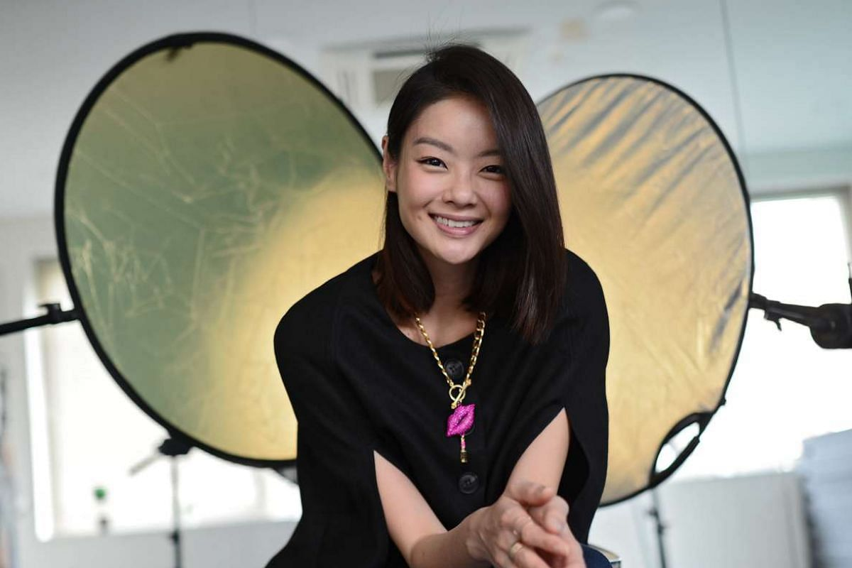Sheila Sim (above), who met her fiance via a dating app, is coy about his identity.