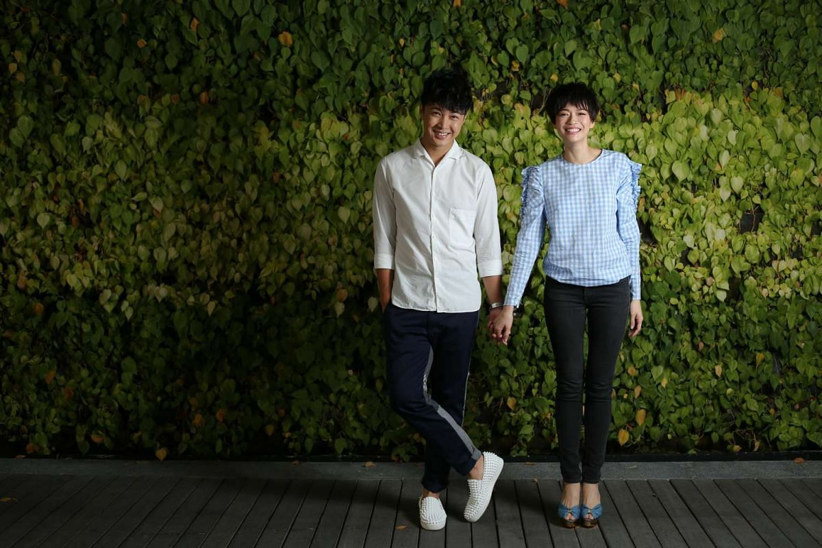 Actors Jeffrey Xu and Felicia Chin bonded over chats about travel and books in between filming.