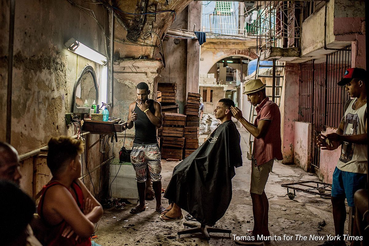 First Prize General News (Singles). A weathered barber shop in Old Havana, Cuba on Jan 25, 2016.