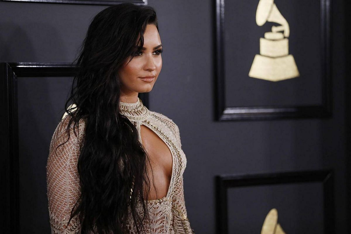 Singer Demi Lovato arriving at the 59th Annual Grammy Awards in Los Angeles, California, US, Feb 12, 2017.