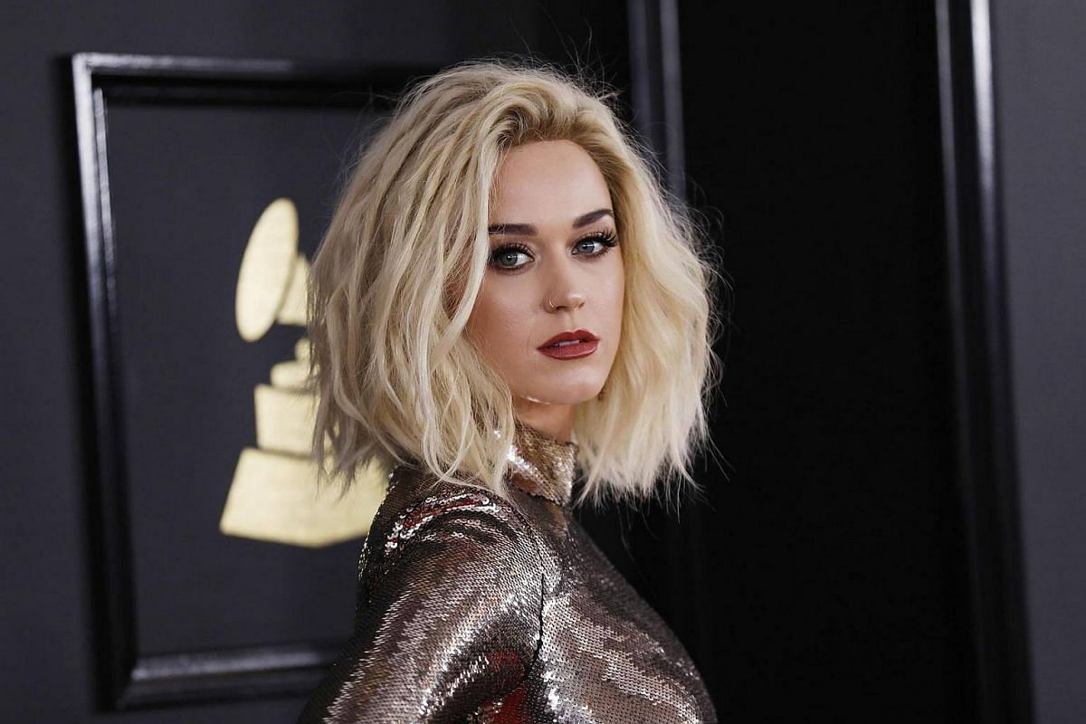 Singer Katy Perry arriving at the 59th Annual Grammy Awards in Los Angeles, California, US, Feb 12, 2017.