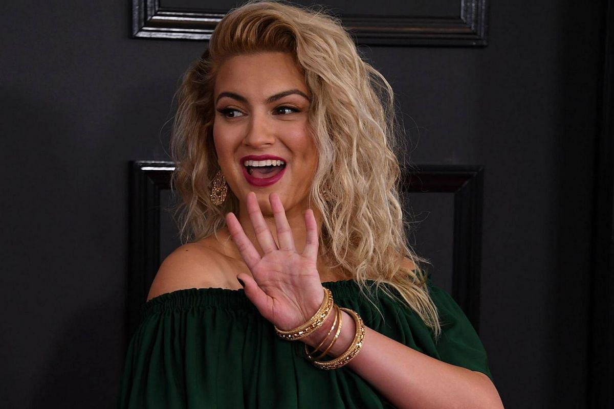 Tori Kelly arriving for the 59th Grammy Awards pre-telecast on Feb 12, 2017, in Los Angeles, California.