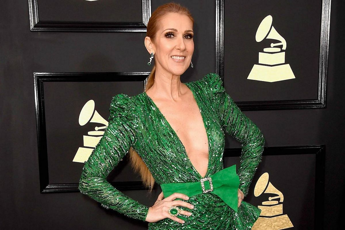 Singer Celine Deon arriving at the 59th Annual Grammy Awards in Los Angeles, California, US, on Feb 12, 2017.