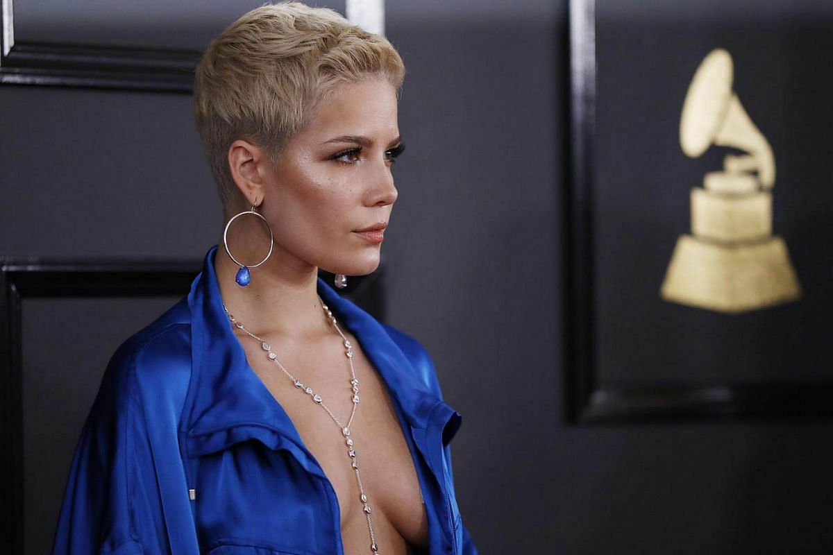 Singer Halsey arriving at the 59th Annual Grammy Awards in Los Angeles, California, US, on Feb 12, 2017.