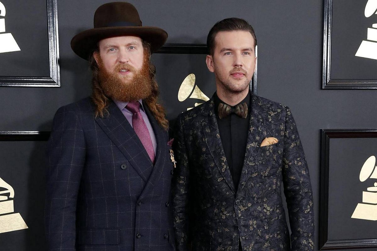 John Osborne (left) and TJ Osborne arriving for the 59th annual Grammy Awards ceremony at the Staples Center in Los Angeles, California, US, on Feb 12, 2017.