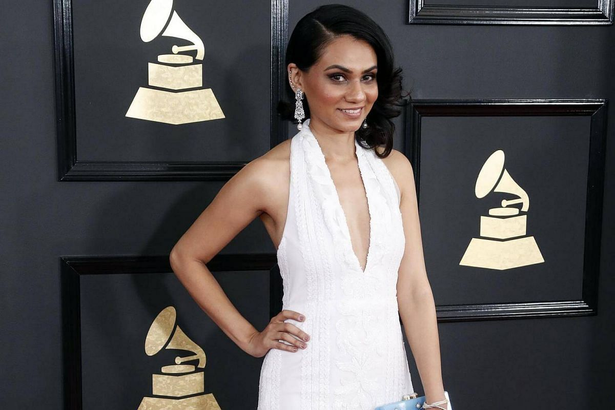 Tanvi Shah arriving for the 59th annual Grammy Awards ceremony at the Staples Center in Los Angeles, California, US, on Feb 12, 2017.