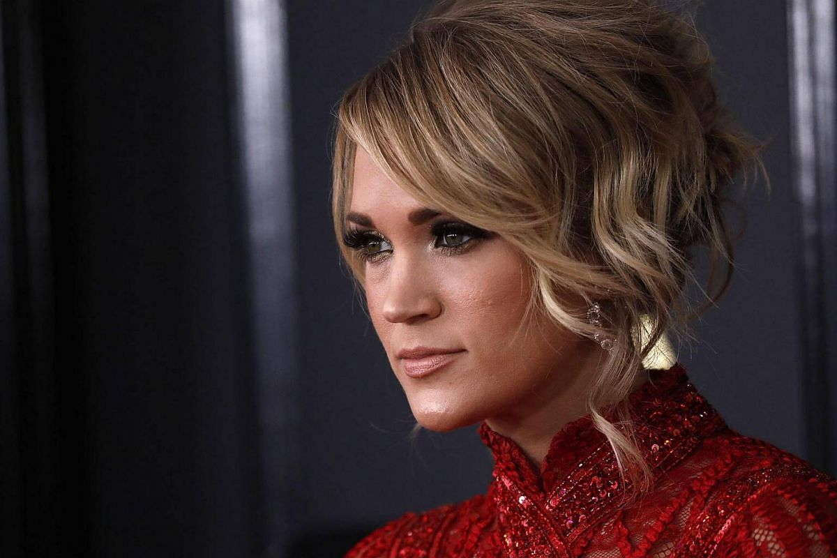 Singer Carrie Underwood arriving at the 59th Annual Grammy Awards in Los Angeles, California, US, on Feb 12, 2017.