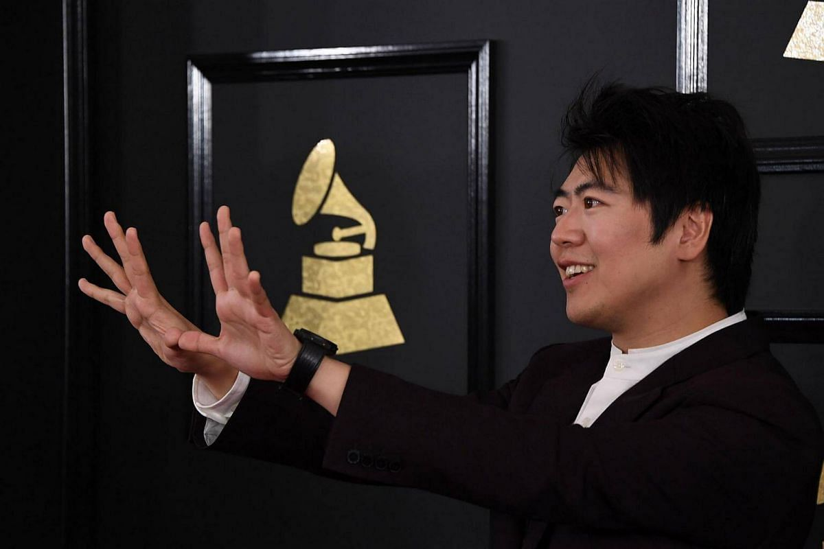 Lang Lang arriving for the 59th Grammy Awards pre-telecast on Feb 12, 2017, in Los Angeles, California.
