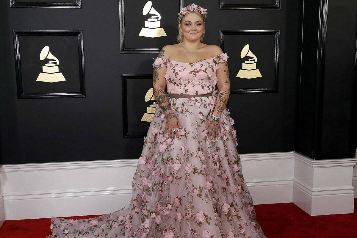 Elle King arriving at the 59th Annual Grammy Awards in Los Angeles, California, US, on Feb 12, 2017.