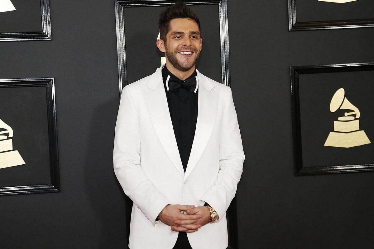 Singer Thomas Rhett arriving at the 59th Annual Grammy Awards in Los Angeles, California, US, on Feb 12, 2017.