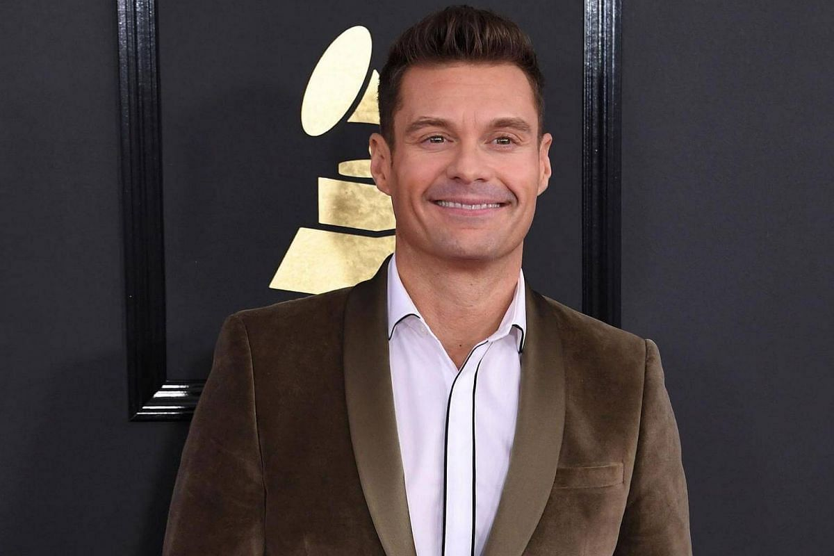 Ryan Seacrest arriving for the 59th Grammy Awards pre-telecast on Feb 12, 2017, in Los Angeles, California.