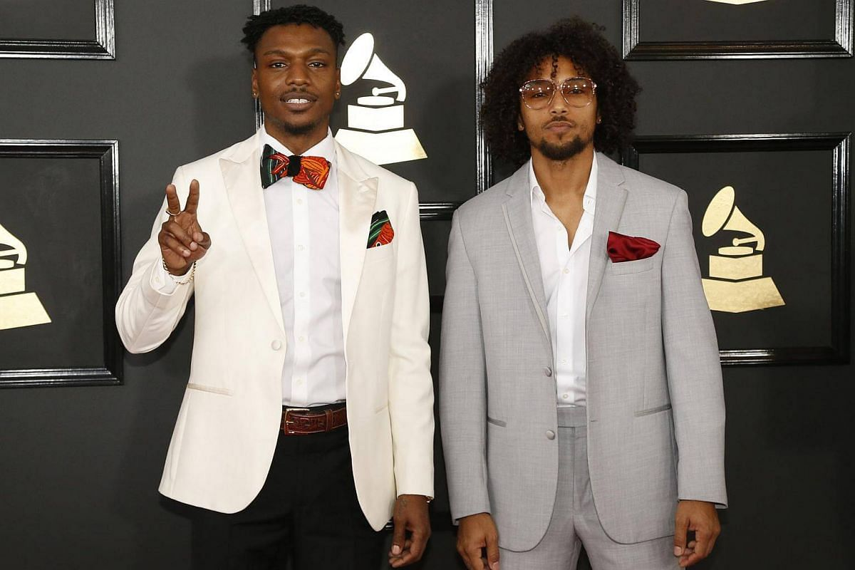 Los Rakas arriving at the 59th Annual Grammy Awards in Los Angeles, California, US, on Feb 12, 2017.