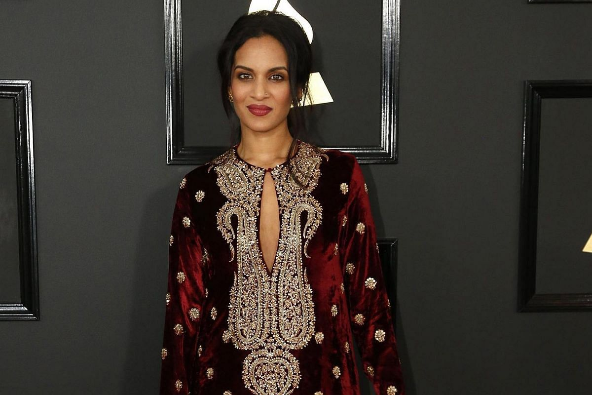 Musician Anoushka Shankar arriving at the 59th Annual Grammy Awards in Los Angeles, California, US, on Feb 12, 2017.