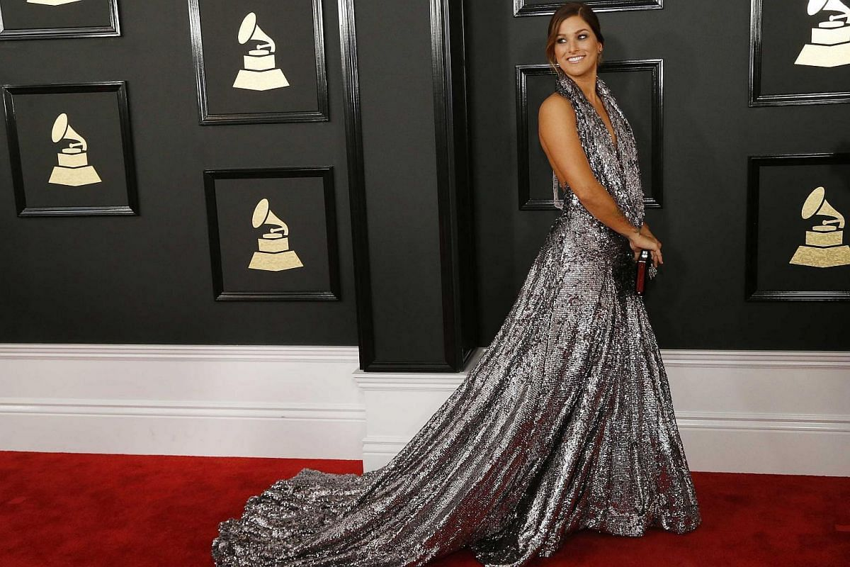 Musician Cassadee Pope arriving at the 59th Annual Grammy Awards in Los Angeles, California, US, on Feb 12, 2017.