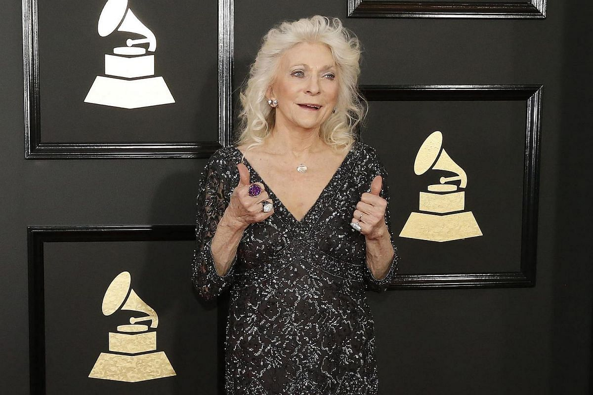 Singer Judy Collins arriving at the 59th Annual Grammy Awards in Los Angeles, California, US, on Feb 12, 2017.