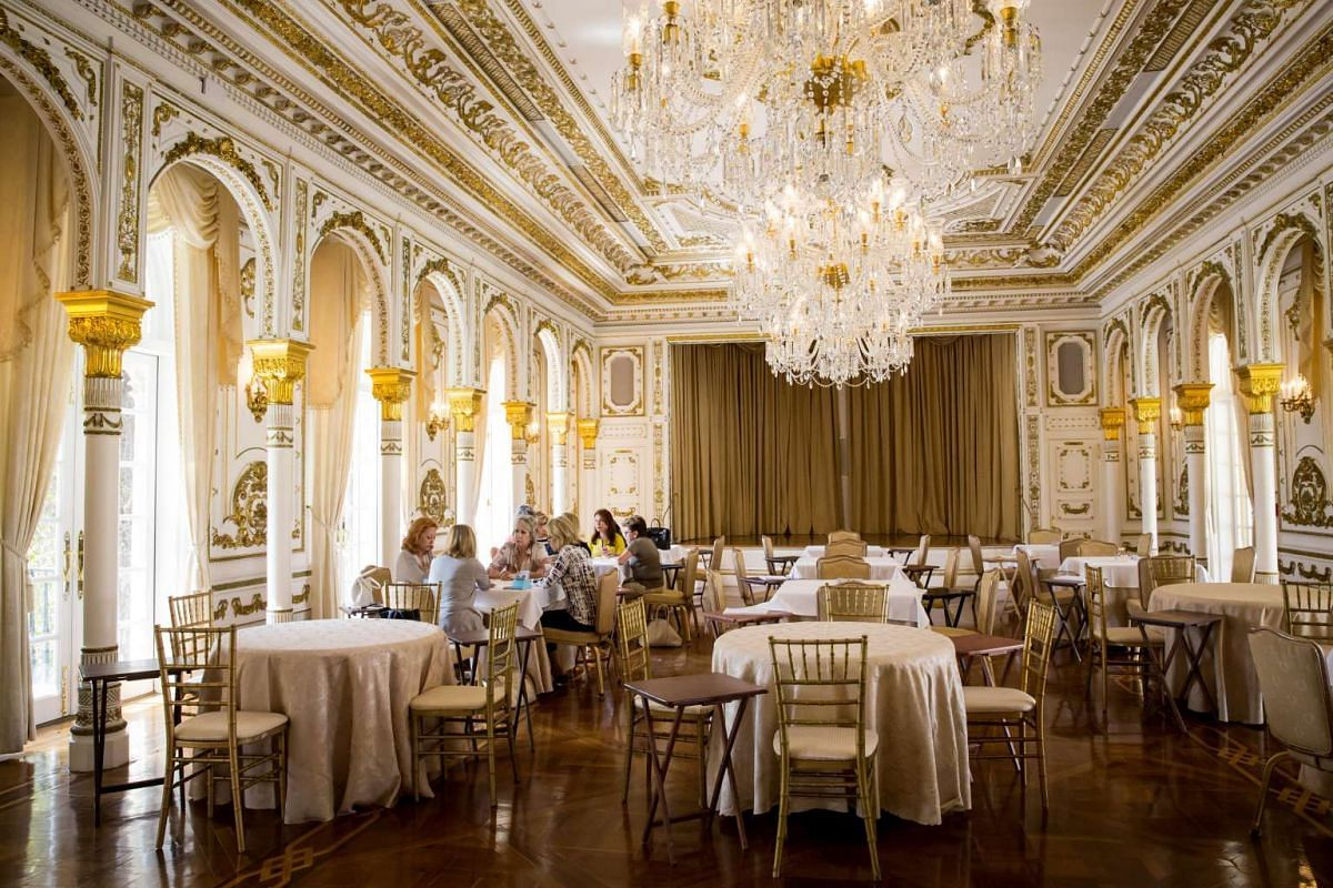 The card room at the Mar-a-Lago estate in Palm Beach, Floriday.