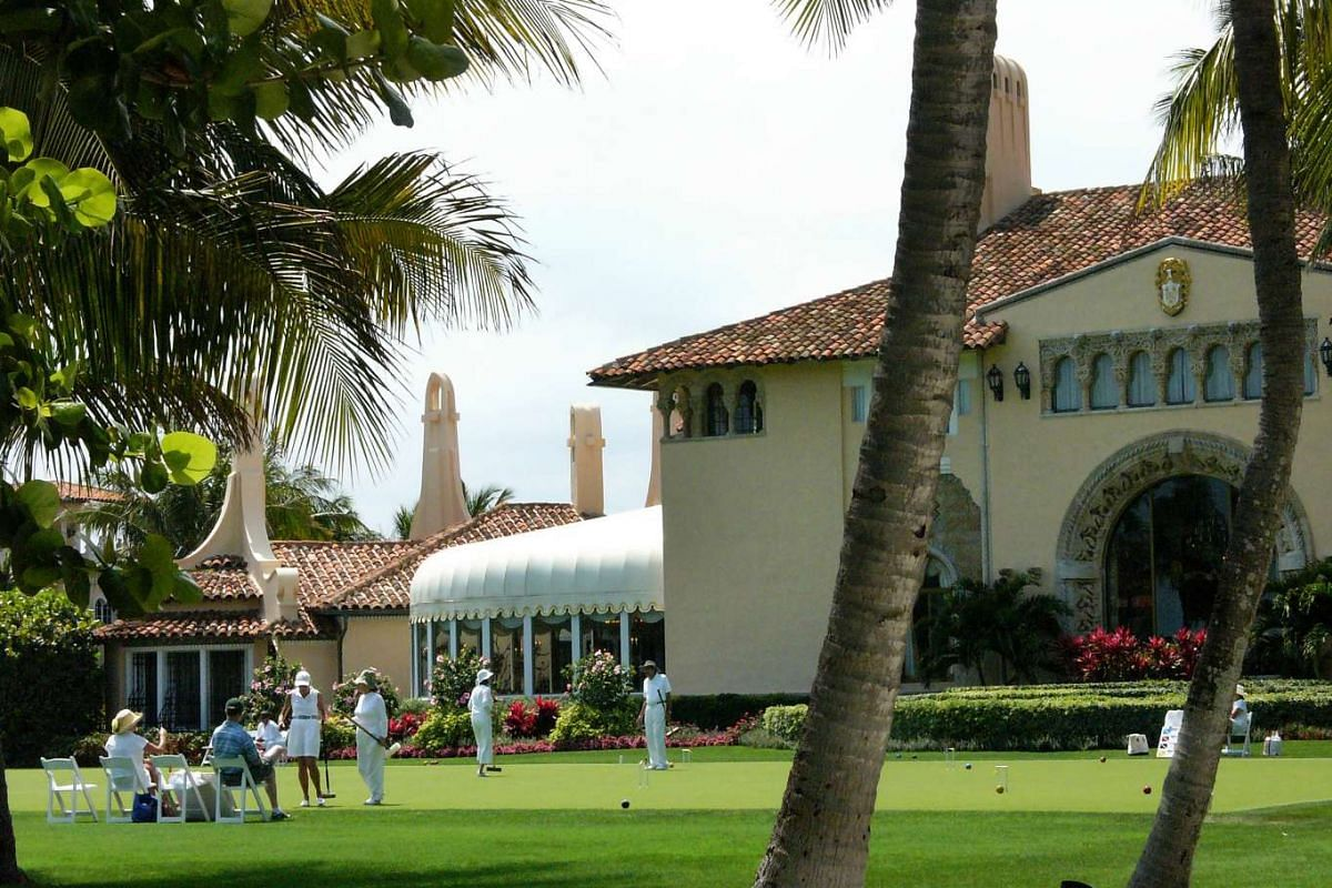 A round of croquet being played on the lawns of the Mar-a-Lago club on April 4, 2009.