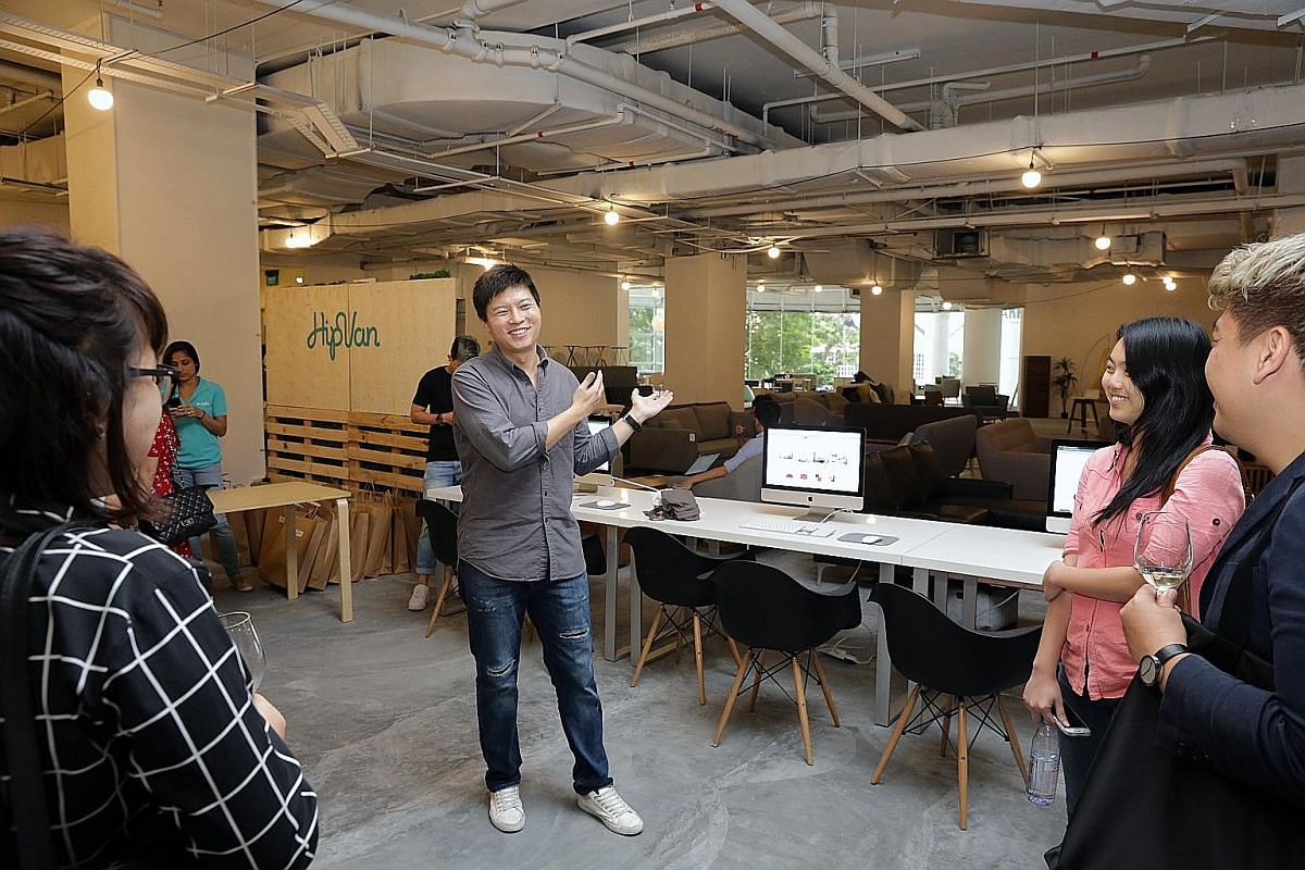 Online furniture retailer HipVan co-founder Danny Tan at his flagship store at The Cathay.