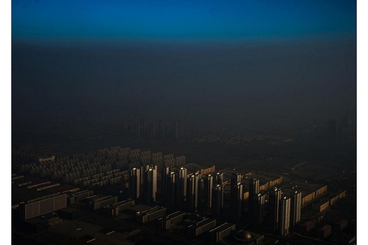 A cloud of smog hangs over Tianjin, in northeastern China.Tianjin, the fourth most populous city in China, is an industrial and logistics hub. Its port forms a gateway to the national capital, Beijing. Hazardous smog blanketing China's northeast tr