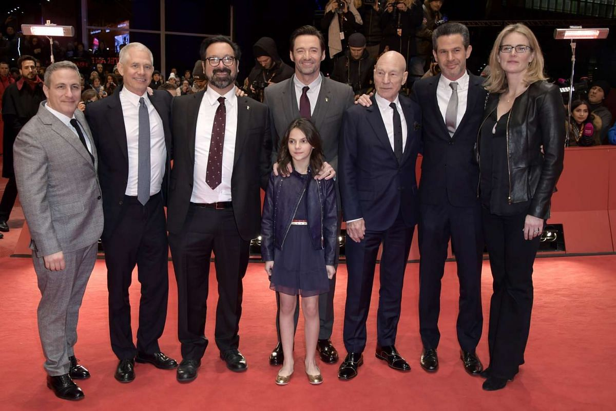 The movie's cast and crew arrive for the premiere of Logan at the 67th Berlinale film festival in Berlin on Feb 17, 2017.