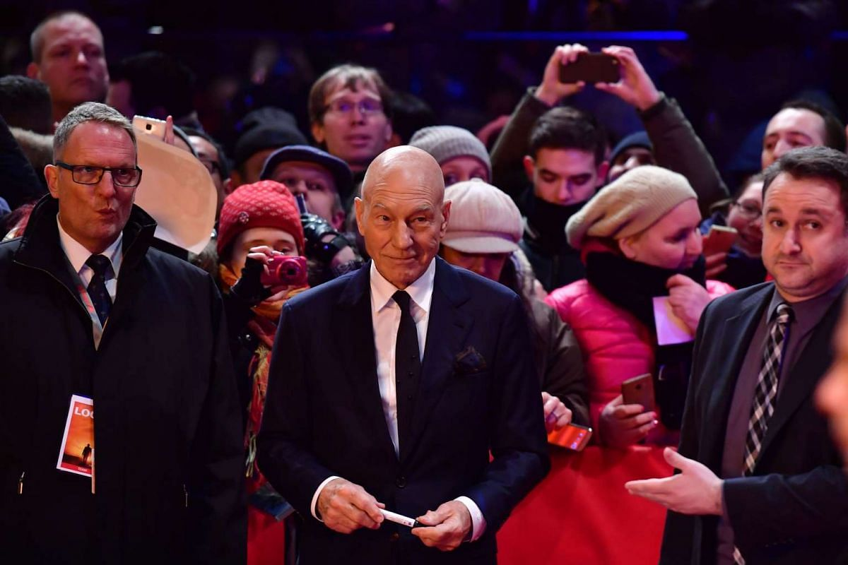 Patrick Stewart arrives for the premiere of the film Logan at the 67th Berlinale film festival in Berlin on Feb 17, 2017.
