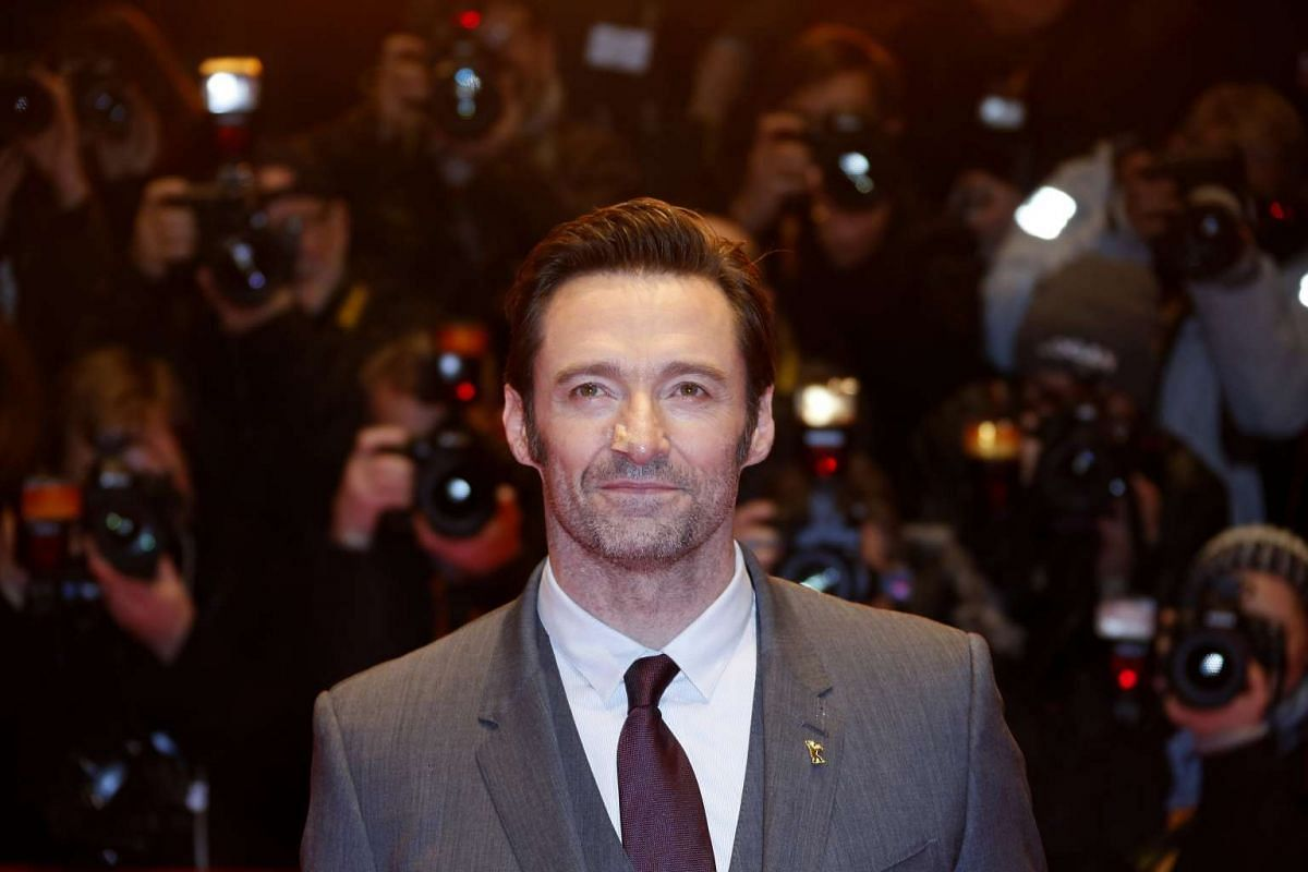 Hugh Jackman arrives for the premiere of the film Logan at the 67th Berlinale film festival in Berlin on Feb 17, 2017.