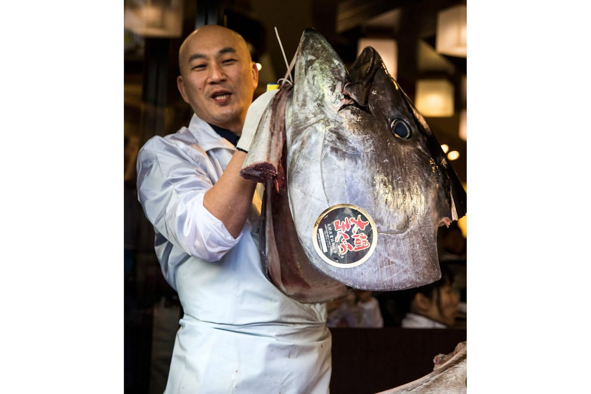 The first auction of this year at Tsukiji saw a prized bluefin tuna going for an eye-watering 74.2 million yen (S$930,000).