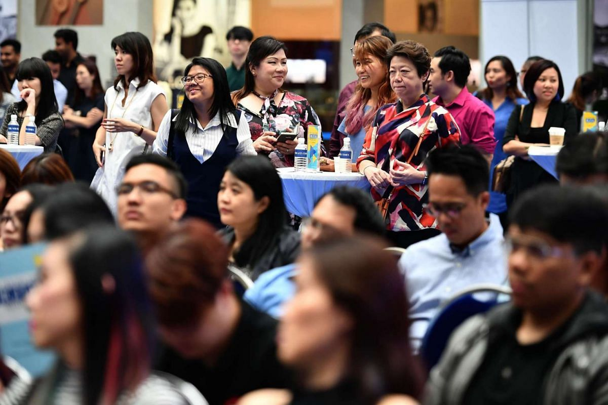 Guests at the annual The Straits Times Digital Awards ceremony at Marina Square atrium on Feb 21, 2017.