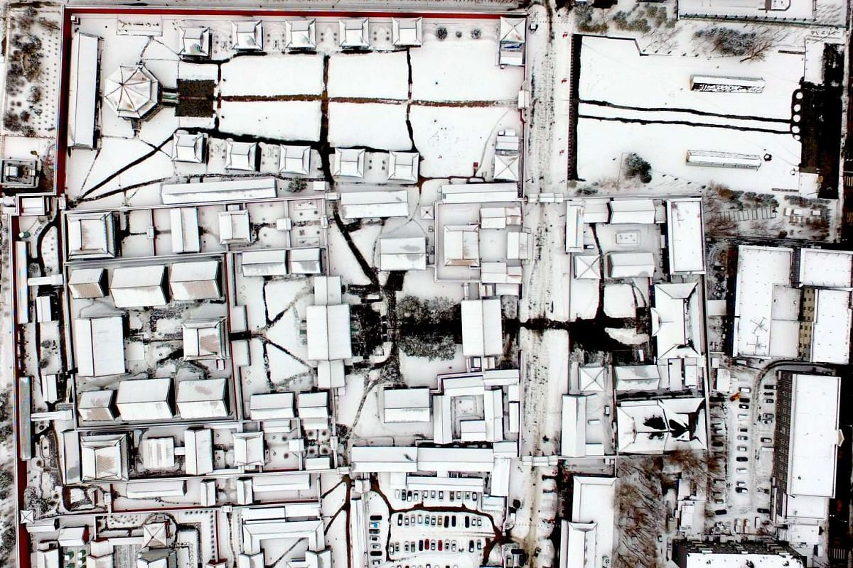 The rooftops of the Shenyang Imperial Palace, also known as the Mukden Palace, lie covered in snow after a snowfall in Shenyang, Liaoning province, on Feb 22, 2017. Built in 1625, the palace was used by emperors of the early Qing Dynasty and is now u