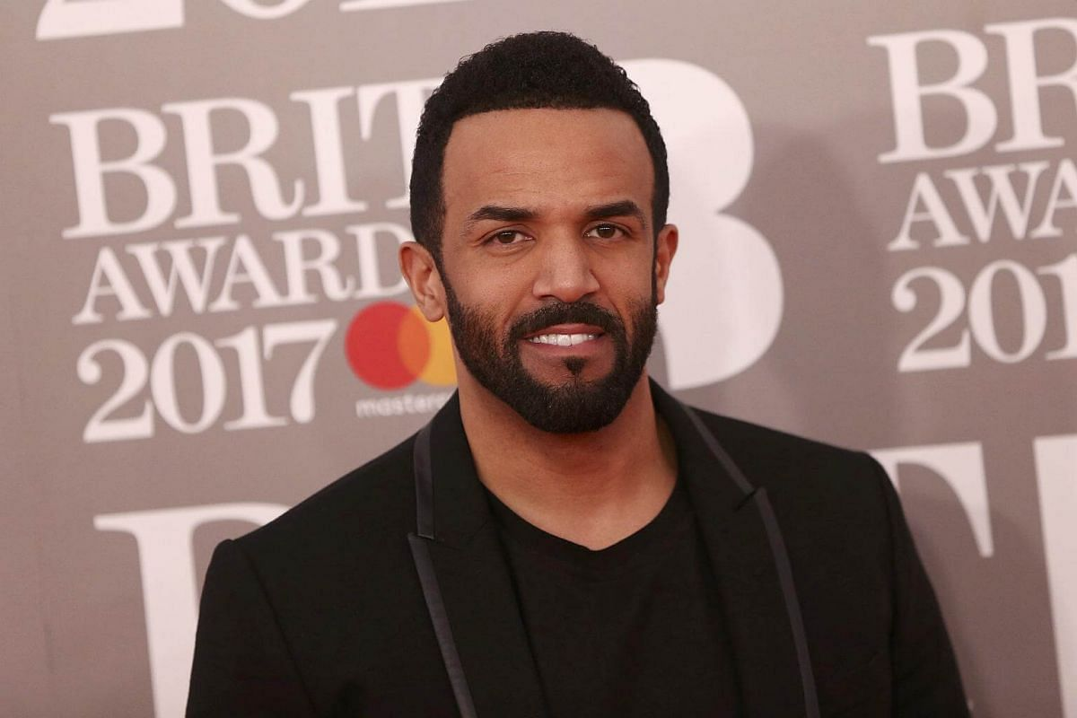 Craig David arrives for the Brit Awards at the O2 Arena in London, Britain, on Feb 22, 2017.