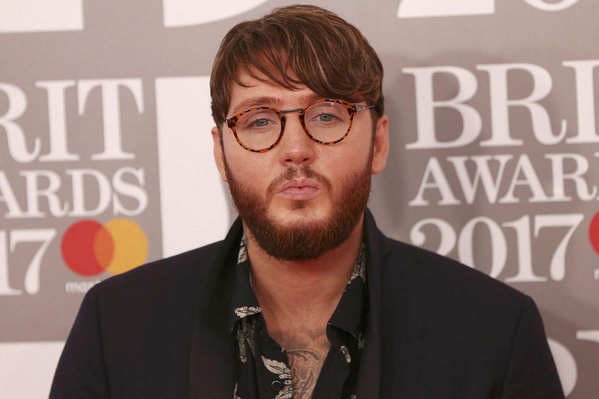 James Arthur arrives for the Brit Awards at the O2 Arena in London, Britain, on Feb 22, 2017.