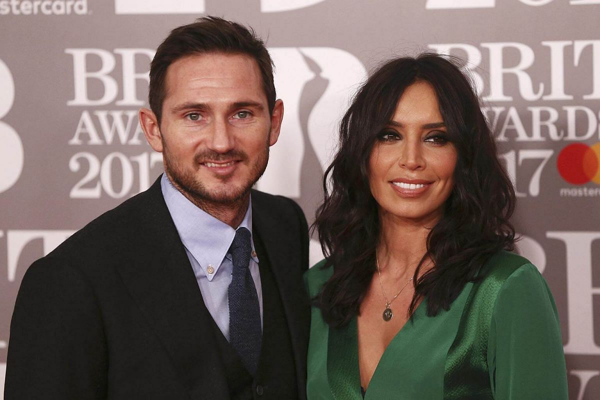 Frank Lampard and Christine Bleakley arrive for the Brit Awards at the O2 Arena in London, Britain, on Feb 22, 2017.