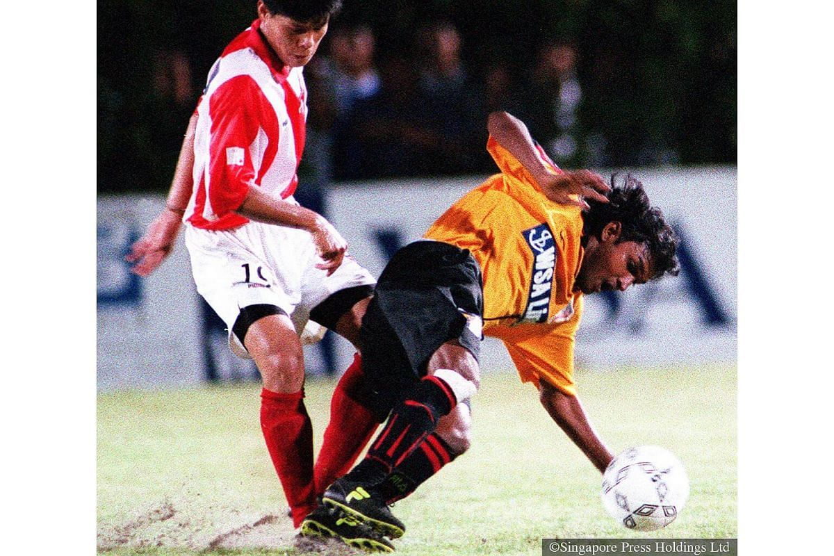 1999: Jurong FC player-coach V Sundramoorthy was everywhere, moving from the periphery one minute to the core of the action the next. Sundram finished as Man-of-the-Match in the 4-2 loss to Tanjong Pagar.
