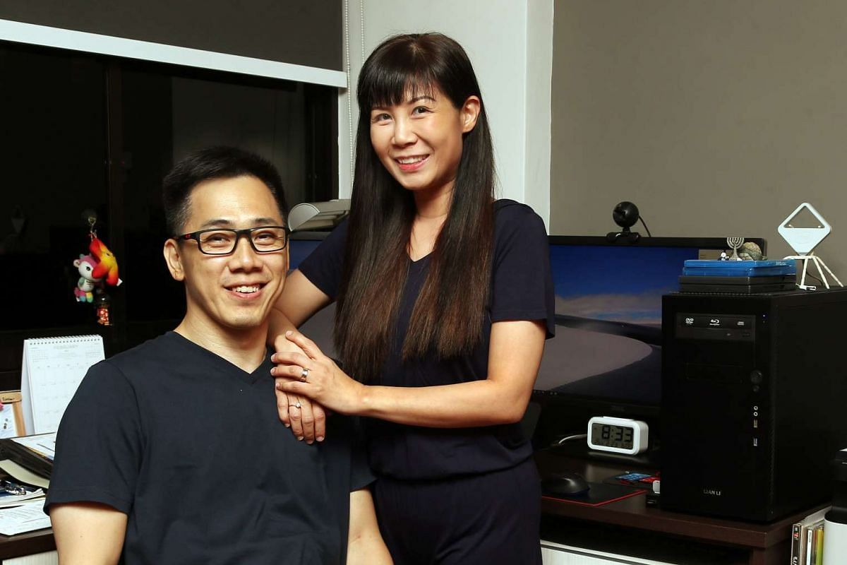 Freelance trader Eric Ting's optimism and self-sufficiency are what drew his wife, post-natal therapist Sharon Tan, to him.