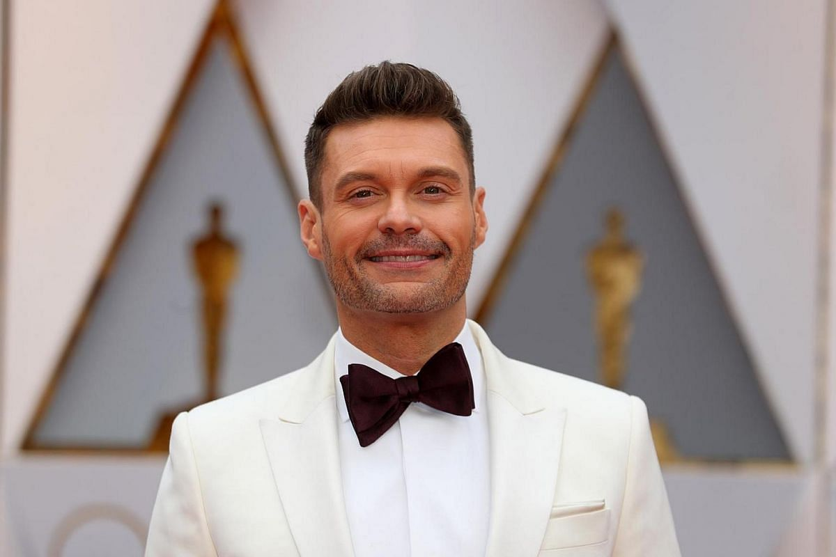 Television host Ryan Seacrest arriving on the red carpet during the 89th Academy Awards in Hollywood, California, on Feb 26, 2017.