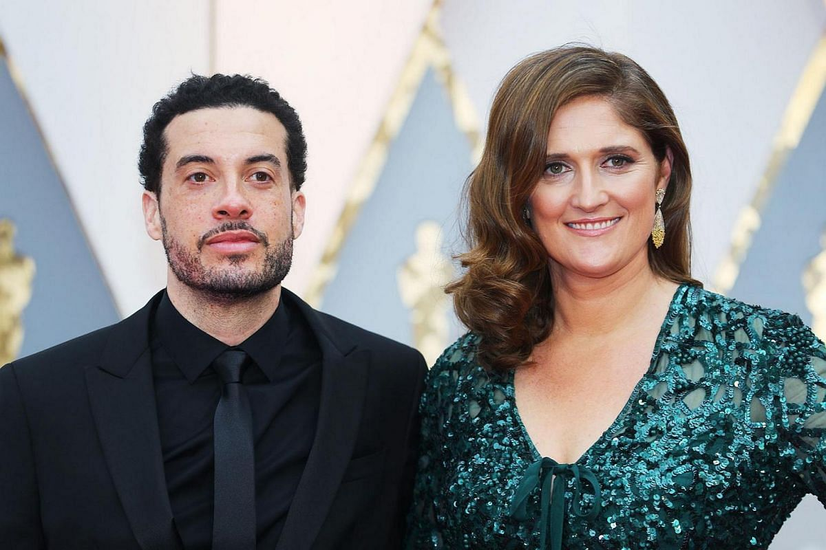 Producers Ezra Edelman and Caroline Waterlow arriving on the red carpet during the 89th Academy Awards in Hollywood, California, on Feb 26, 2017.