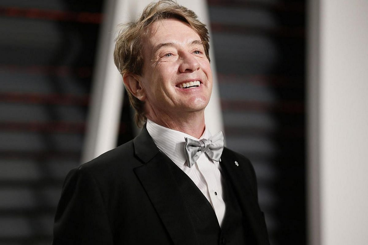 Martin Short posing on the red carpet for the 89th Oscars, on Feb 26, 2017.