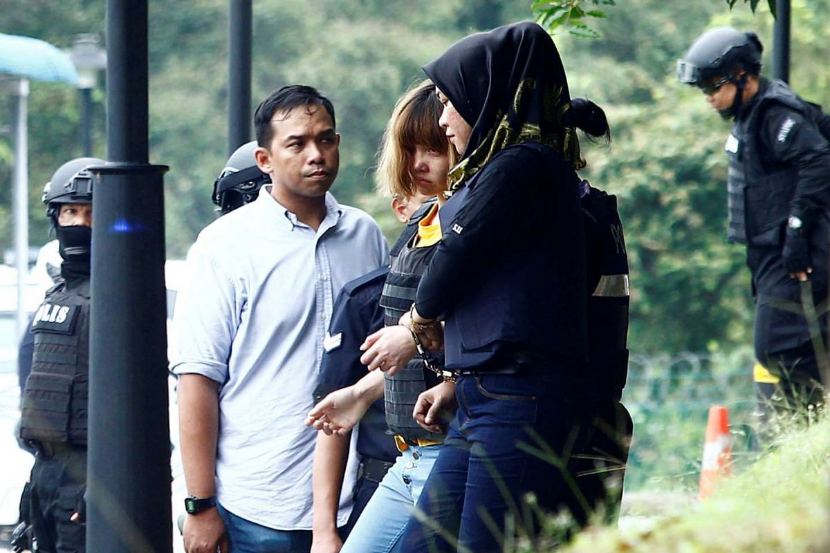 Vietnamese Doan Thi Huong leaving a Sepang court after she was charged with the murder of North Korea Kim Jong Nam, in Malaysia, on March 1, 2017.