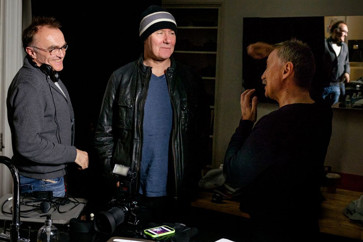 From left: Director Danny Boyle, author Irvine Welsh and Robert Carlyle.