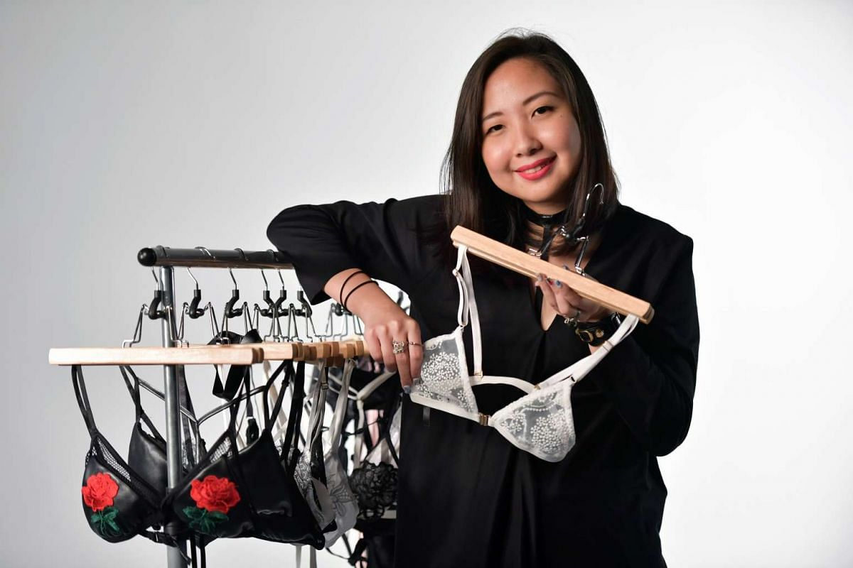 Ms Heng Si Hui, 26, is the founder and designer of home-grown lingerie label Naked and Unbound.
