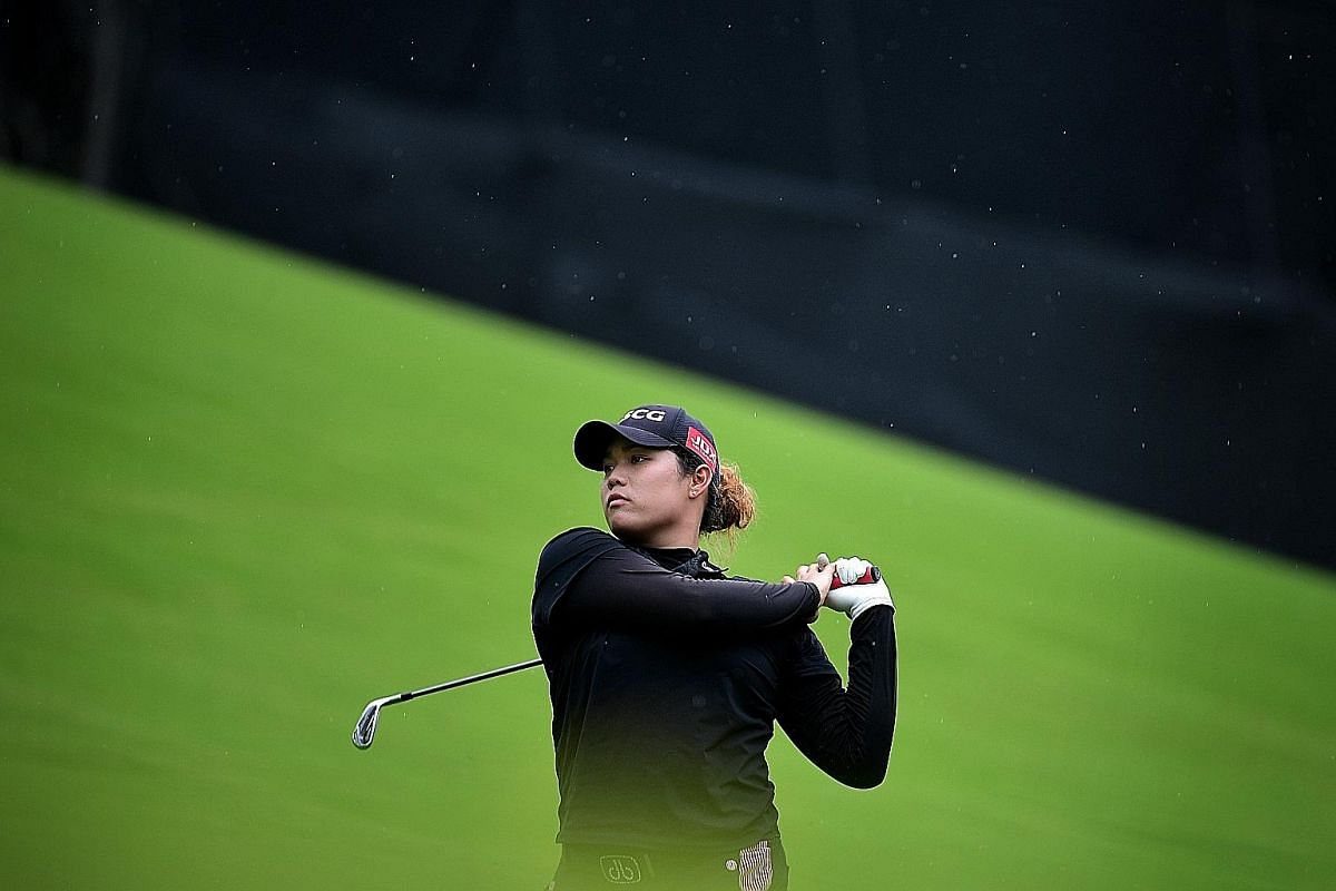 Ariya Jutanugarn of Thailand in action at the HSBC Women's Champions yesterday. The world No. 2, who is 21 years old, is at the forefront of the youth brigade, along with world No. 1 Lydia Ko, who is 19.