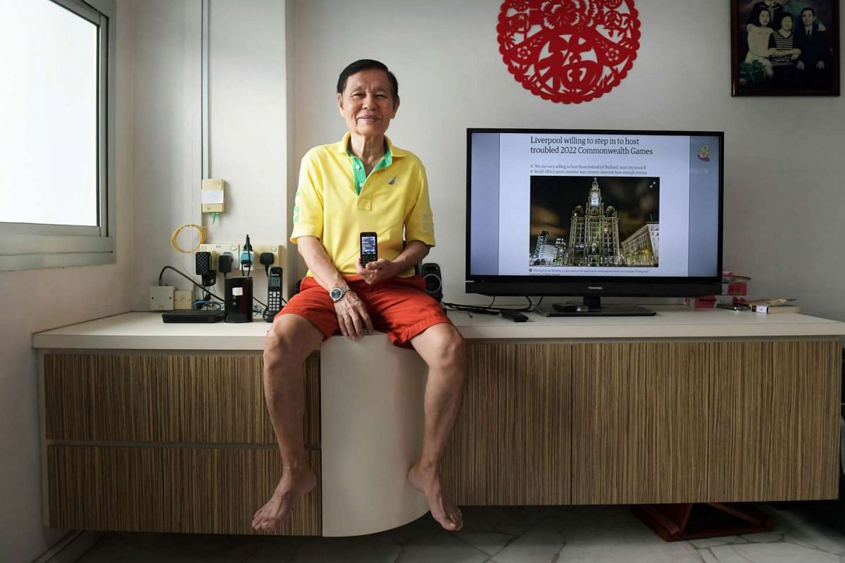 Retiree Tommy Chua will continue to rely on analog free-to-air television broadcasting until it ceases.
