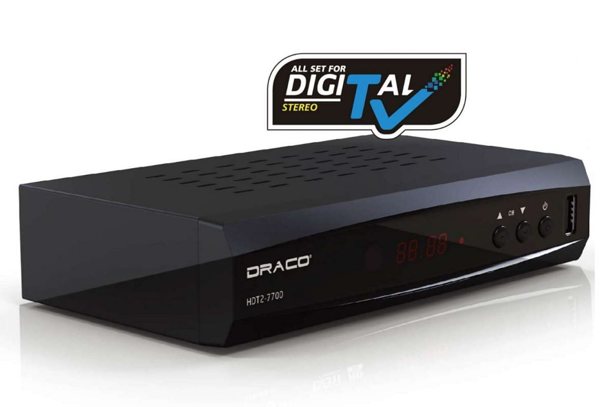 Non-paying TV subscribers will need to buy and connect a digital set-top box (above) and an indoor ultra-high frequency antenna to their existing TV sets to watch free-to-air digital TV channels.