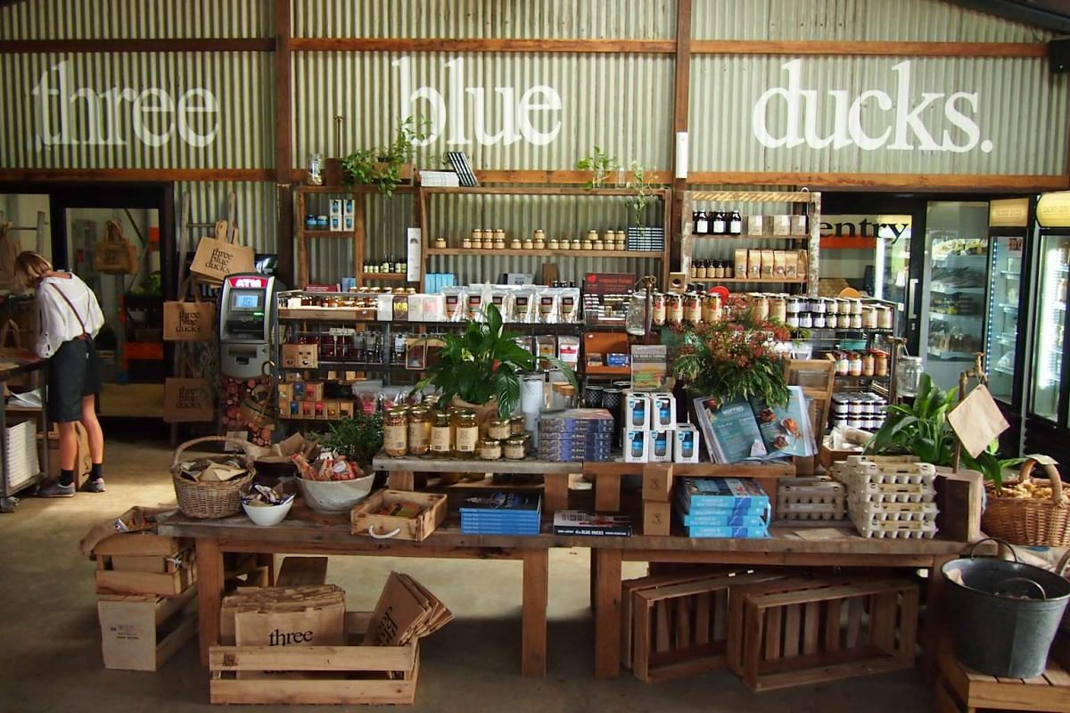 The Three Blue Ducks restaurant at The Farm also has a produce store which sells freshly harvested produce.