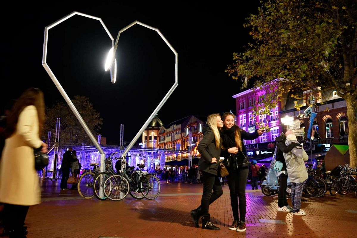 Light installations are sprinkled throughout Eindhoven during Glow Eindhoven.