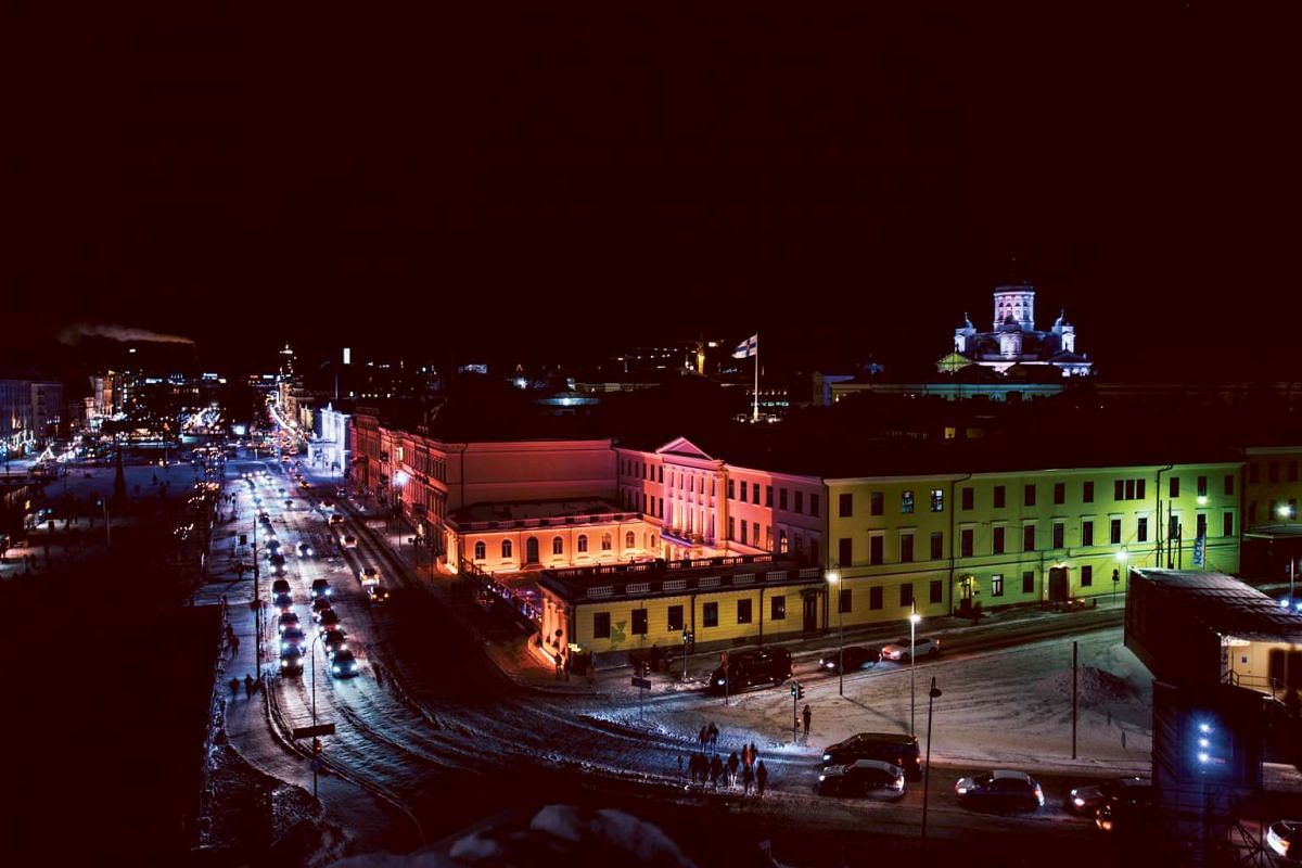 To counter the short daylight hours in January, Helsinki brings on its light festival.