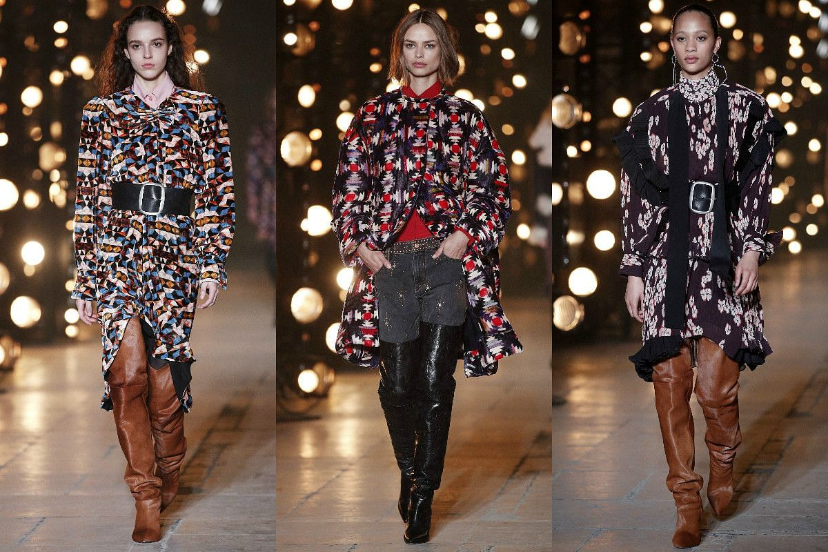 Models present creations from the Fall/Winter 2017/18 ready-to-wear collection by French designer Isabel Marant.