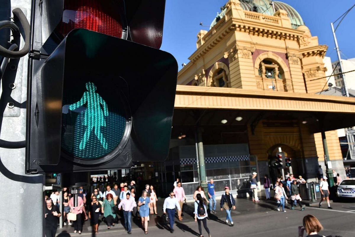 A clear signal that gender equality is here to stay? These new traffic lights near Flinders Street station in Melbourne, Australia. A total of 10 lights were replaced in the city's CBD, a move initiated by non-profit organisation Committee for Melbou